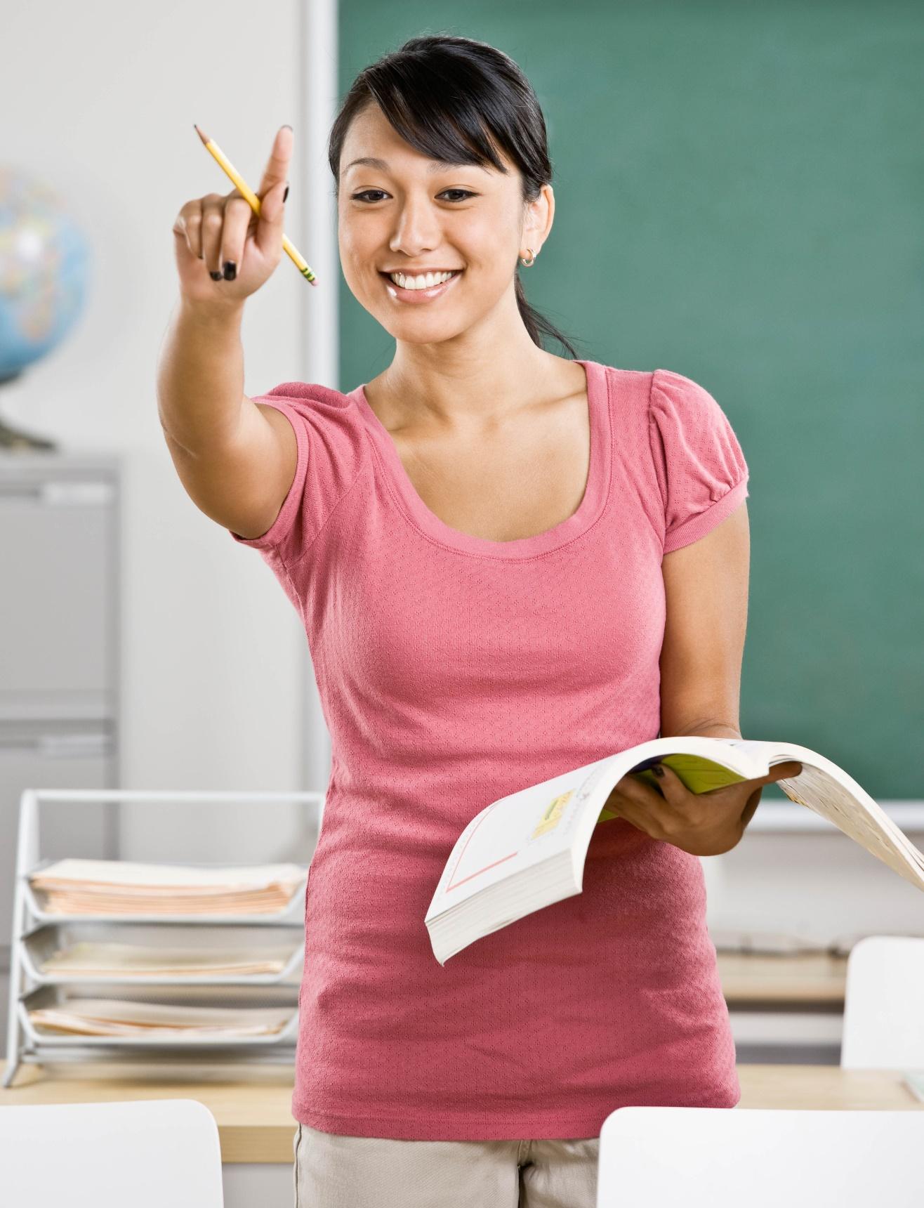 nclass teacher calling on student